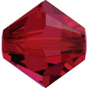 Swarovski Elements Perlen Bicones 4mm Scarlet 50 Stück