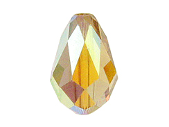 Swarovski Elements Perlen Tropfen 9x6mm Light Colorado Topaz AB beschichtet 10 Stück