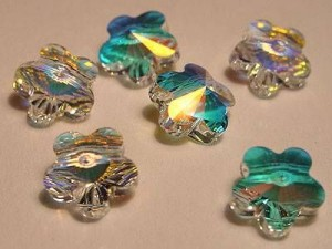 Swarovski Elements Perlen Blumen 8mm Crystal AB beschichtet 10 Stück