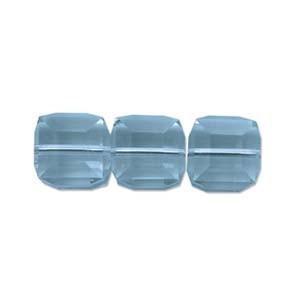 Swarovski Elements Perlen Würfel 6mm Carribean Blue Opal 2 Stück