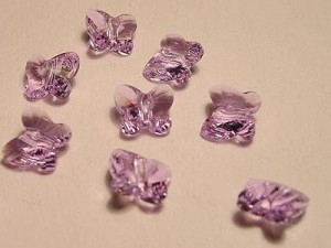 Swarovski Elements Perlen Butterfly 8mm Violet 10 Stück