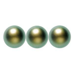 Swarovski Elements Perlen Crystal Pearls 8mm Iridescent Green Pearls 50 Stück