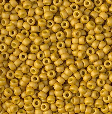 Miyuki Rocailles Beads 3mm 1233 matt opaque Mustard ca 13gr