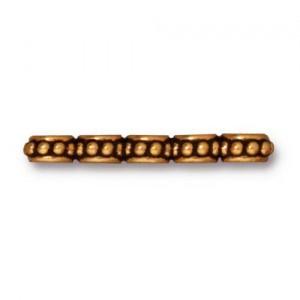 Tierracast 5-fach Spacer  Beaded  vergoldet 2,6mmx0,6mm