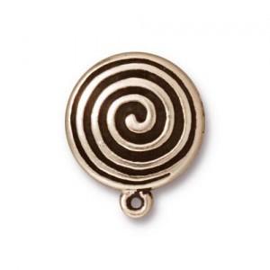 Tierracast Ohrclips  Spiral Clip eine Öse versilbert 1 Paar