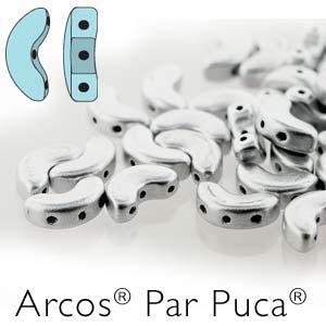 Arcos par Puca ® 5x10mm 00030-01700 Silver Aluminium matt ca 10 gr