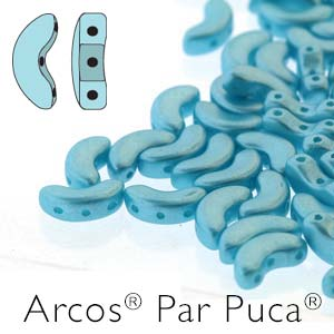 Arcos par Puca ® 5x10mm 02010-25019 Pastel Aqua ca 10 gr