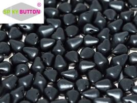 Spiky Button 4,5x6,5mm Alabaster Pastel Dark Grey ca 50 Stueck
