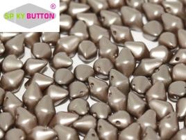 Spiky Button 4,5x6,5mm Alabaster Pastel Light Brown ca 50 Stueck