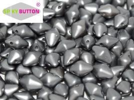 Spiky Button 4,5x6,5mm Alabaster Pastel Light Grey ca 50 Stueck