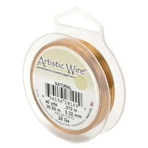 Biegedraht Artistic Wire Natural Copper 22 Gauge 15 Yard