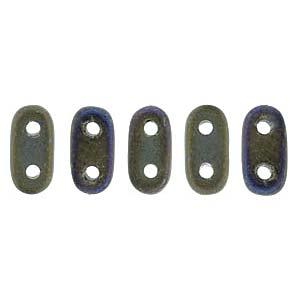 Bar-Beads 2x6mm irisierend Brown ca 10 g