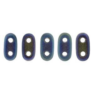 Bar-Beads 2x6mm matt irisierend Blue ca 10 g