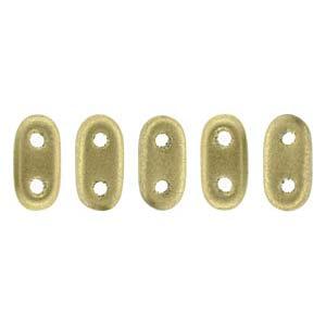 Bar-Beads 2x6mm Metallic matt Flax ca 10 g