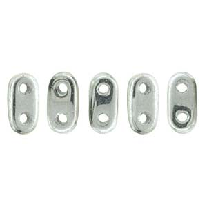 Bar-Beads 2x6mm Silver ca 10 g