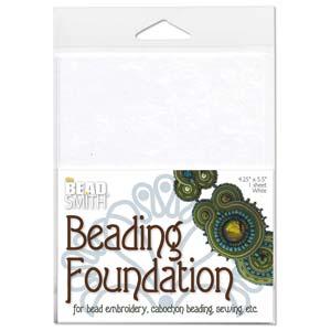 Beadfoundation white ca 27,5x21,2cm