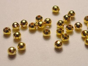 Kügelchen goldfarben 2mm 50 Stück