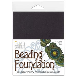 Beadfoundation black ca 27,5x21,2cm