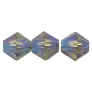 Swarovski Elements Perlen Bicones 6mm Olivine 2AB beschichtet 25 Stück