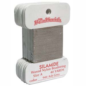 Silamide Ash Grey 40 yard Card ca 36m