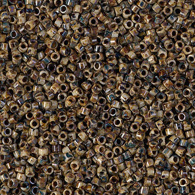 Miyuki Delica Beads 1,6mm DB2267 opaque Brown Picasso ca 5gr