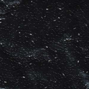 Miyuki Delica Beads 1,3mm Hexcut DBSC0010 opaque Black ca 5gr