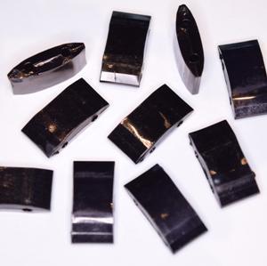 Acryl Trägerperlen 18x9x5mm schwarz 30 Stück