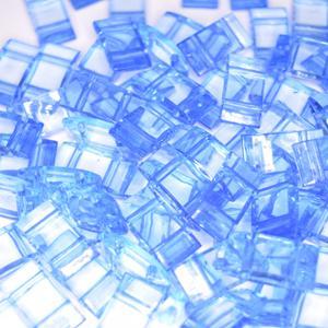 Acryl Trägerperlen 18x9x5mm Dodger Blue 30 Stück