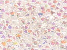 Dragon Scale Beads 1,5x5mm Crystal AB beschichtet ca 9,5 gr