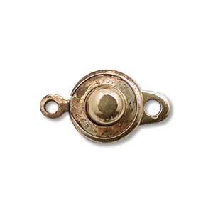 Druckknopf Verschluss 8mm Antique Gold 2 Stück