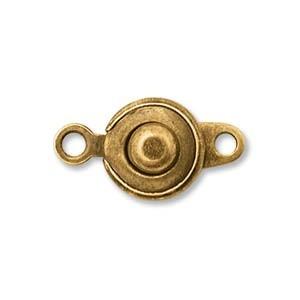 Druckknopf Verschluss 8mm Brass 2 Stück