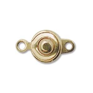 Druckknopf Verschluss 8mm vergoldet 2 Stück