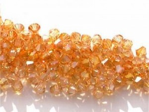 Swarovski Elements Perlen Bicones 4mm Crystal Brandy 50 Stück