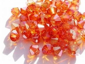 Swarovski Elements Perlen Bicones 6mm Crystal Chili Pepper 25 Stück