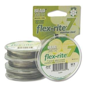 Flexrite 7strängig 0,3mm Silberfarben 9,14m