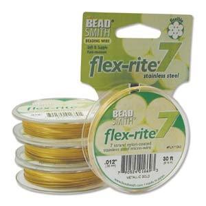 Flexrite 7strängig 0,3mm Metallic Satin Gold 9,14m