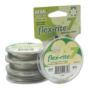 Flexrite 7strängig 0,35mm Silberfarben 9,14m