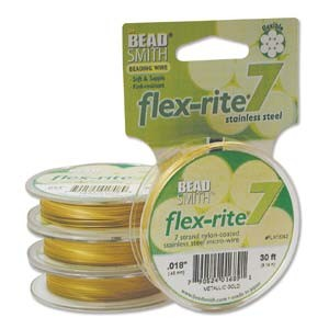 Flexrite 7strängig 0,45mm Metallic Satin Gold 9,14m
