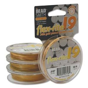 Flexrite 19strängig 0,45mm 24KT Vergoldet 9,14m
