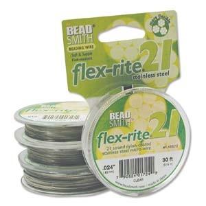 Flexrite 21strängig 0,6mm Silberfarben 9,14m