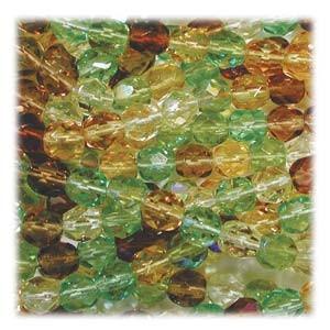 Glasschliffperlen 4mm MIX 100 Stück  Earth Tone