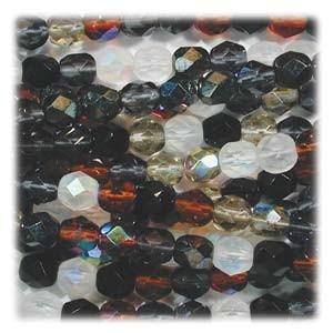 Glasschliffperlen 3mm MIX 100 Stück  Pebblestone