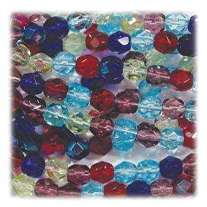 Glasschliffperlen 4mm MIX 100 Stück  Gemtones