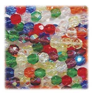 Glasschliffperlen 4mm MIX 100 Stück  Rainbow AB