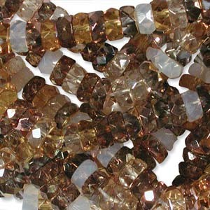 Firepolished Rondelle 3x6mm MIX22 Honey Butter 100 Stück