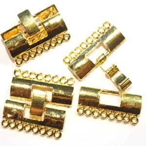 Fold Over Verschluss 24x23x3,5mm goldfarben