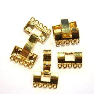 Fold Over Verschluss 22x14,5x4mm goldfarben