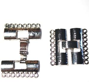 Fold Over Verschluss 24x23x3,5mm silberfarben