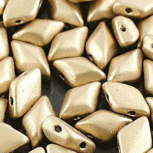 Gemduo 8x5mm Bronze Pale Gold ca 10 Gramm
