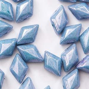 Gemduo 8x5mm Chalk Blue Luster ca 10 Gramm